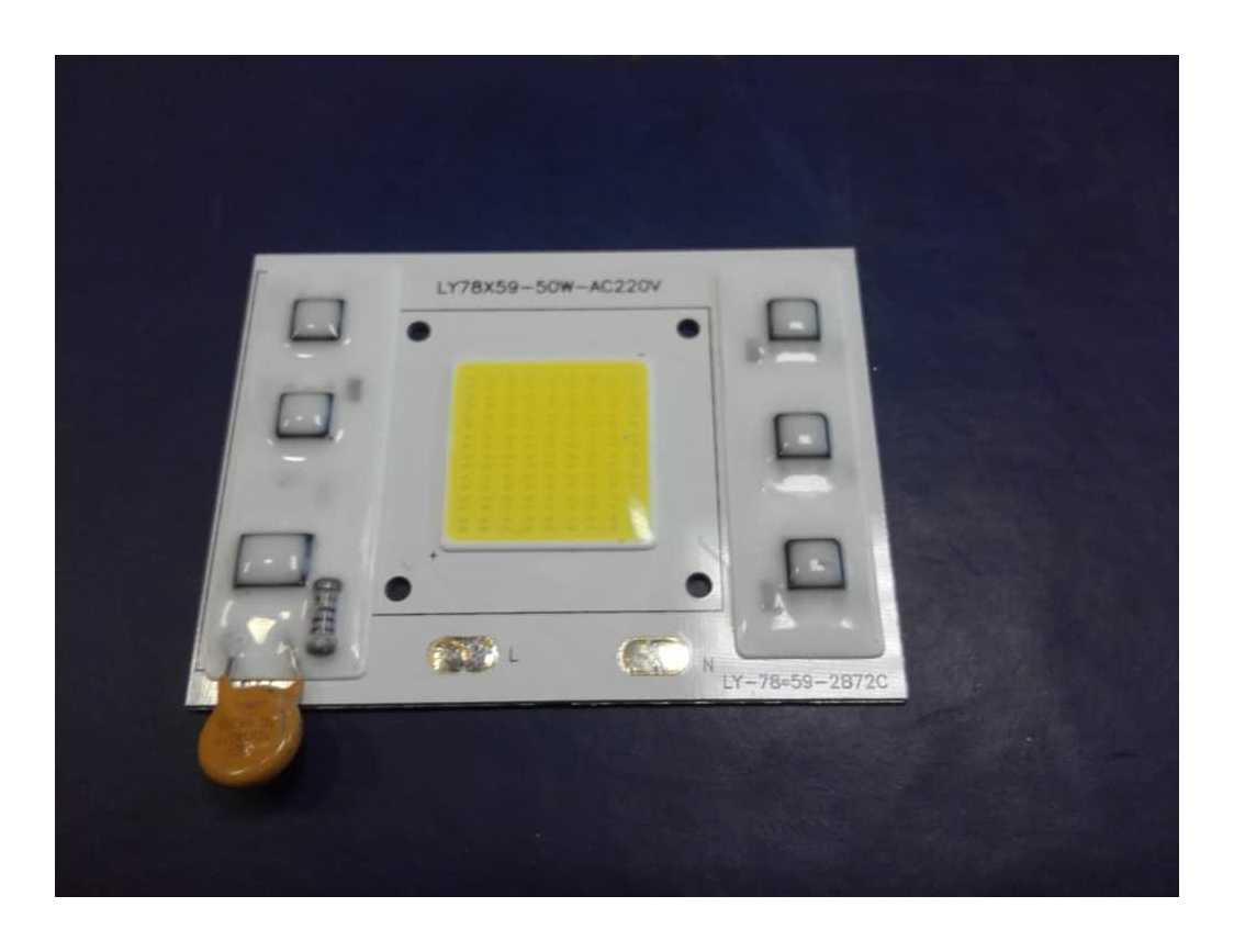 Светодиодная матрица COB 50 ВТ 220 Вольт  (С ВСТРОЕННЫМ БЛОКОМ ПИТАНИЯ) - 1