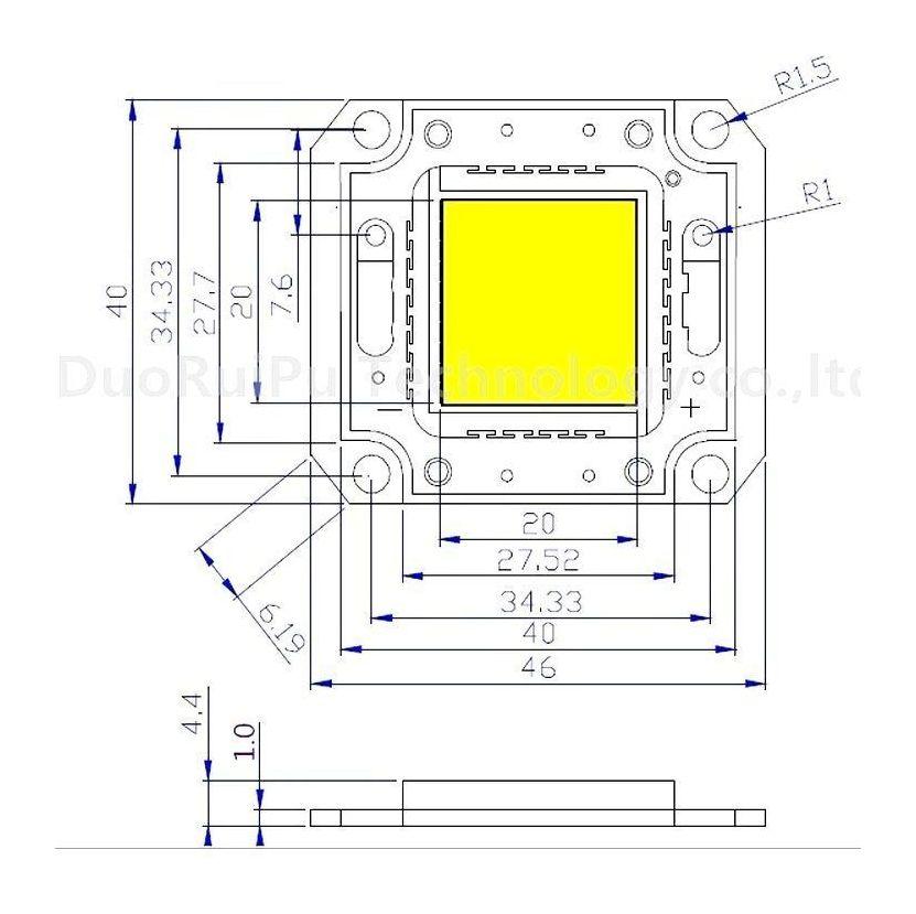 Светодиодная матрица 30 Вт (32x32 mil) - 1