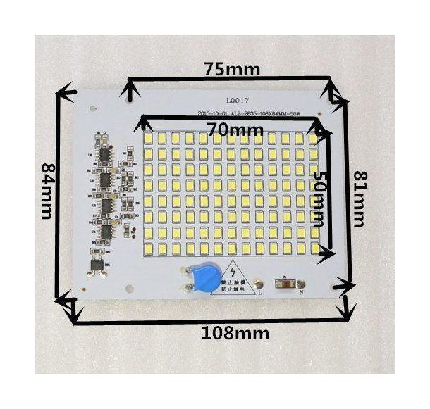 Светодиодная матрица 220 Вольт 50 ВТ (С ВСТРОЕННЫМ БЛОКОМ ПИТАНИЯ) - 2